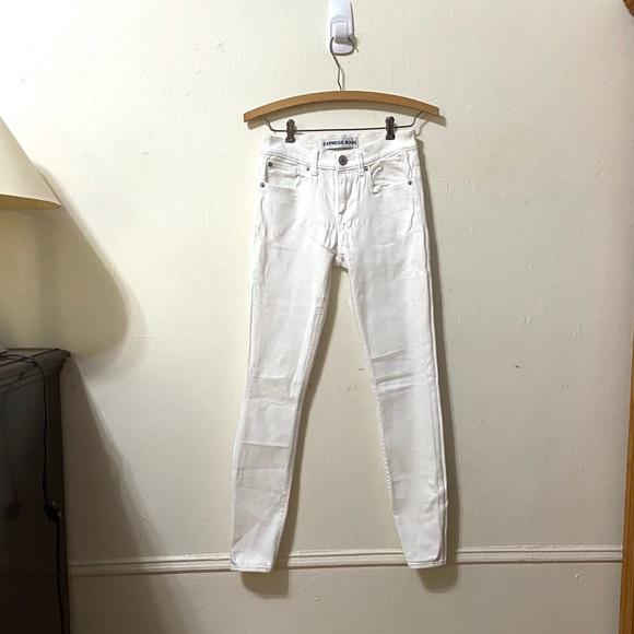 Express Denim - Express White Skinny Jeans